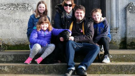 Sally and Matthew Liddle with children Evie, 11, Florence, seven, and Sebastian, 10 Picture: SALLY L
