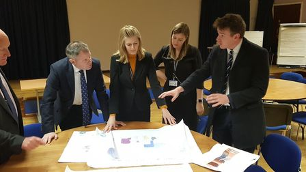 East Suffolk and north Essex Foundation Trust (ESNEFT) chief executive Nick Hulme looking over plans