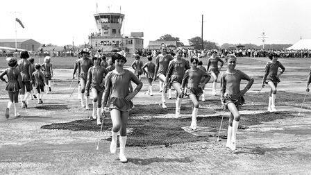 Baton twirlers putting on a performance at the open day Picture: JERRY TURNER