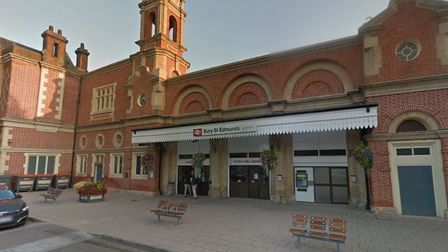The train was stuck at Bury St Edmunds due to an engine problem. Picture: GOOGLE MAPS