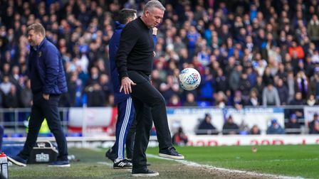 Ipswich Town manager Paul Lambert insists his team remain very much in the promotion hunt. Photo: St