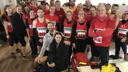 Some of the big contingent of Felixstowe Road Runners who took part in Sunday's Tarpley 10 and 20 mi