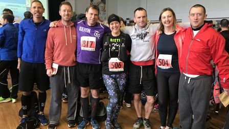 Hundreds of people braced the cold weather and took part on the Tarpley race in Beyton. Picture: Vic