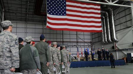 More than 3,000 US personnel are based at RAF Mildenhall. Picture: PHIL MORLEY