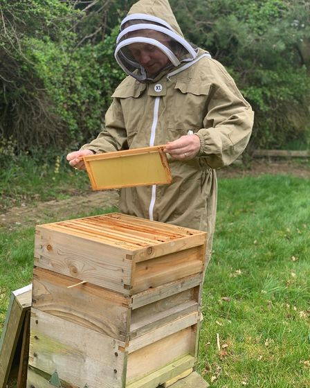 Bishop of Dunwich Rt Rev Dr Mike Harrison is taking a bee keeping course as part of Lent Challenge 2