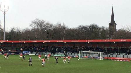 The backdrop to Saturday's League Two tussle at Moor Lane, where Colchester United beat hosts Salfor