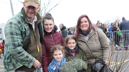 Families could take up to 10 trees home for their gardens Picture: COLCHESTER BOROUGH COUNCIL