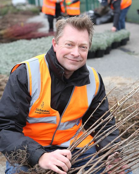 Council staff made sure there were plenty of fruit trees and bushes for families to choose from Pict