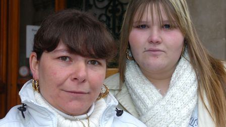 Grant's former partner, Suzanne Moore, and daughter Tanya Moore-Byrom. Picture: JAMES FLETCHER