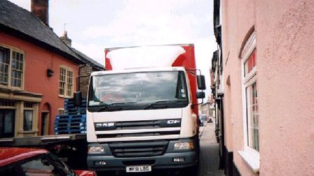 Lorries trying to navigate the tight roads of Sudbury is a common sight for residents Picture: ELAIN
