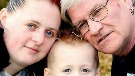 (Left to right) Jemma Low, her son Thomas Weston and Thomas's father Keith Weston Picture: JEMMA LOW