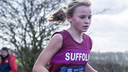 Ruby Vinton, seen here winning the under-13 girls' title at last year's Inter-Counties event, was si