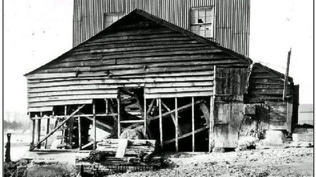 The mill in a derelict state Picture: TIDE MILL ARCHIVE
