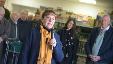 Maureen Reynel MBE is asking shoppers to leave stock on shelves so it can be donated to foodbanks Pi