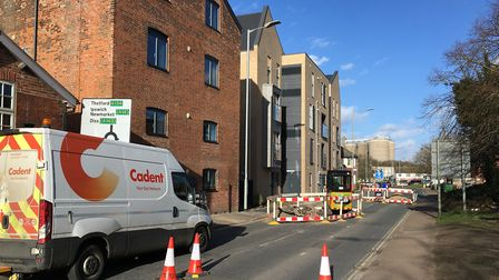 The closure of Tayfen Road this week due to a gas leak has exacerbated bad traffic in Bury St Edmund