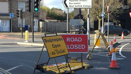 As well as the closure of Tayfen Road, there is a planned closure in Angel Hill as work is underway