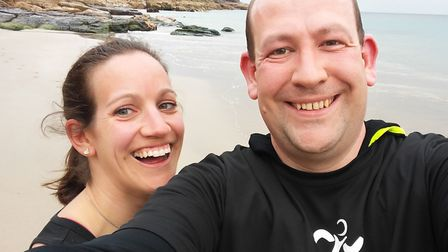 Chris Rose completed last year's London Marathon to grant his late wife Angela's final wish Picture:
