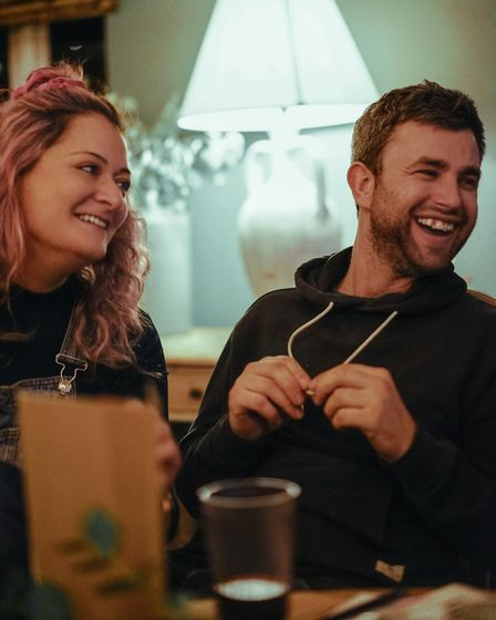 Hannah and Jon a few weeks ago after hosting their first WanderSups supper club. He was her sous che