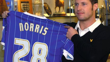 David Norris, pictured after he signed for Ipswich Town in January 2008. Photo: Archant