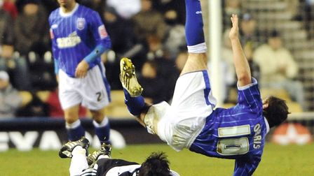 David Norris in action against Derby. Photo: Archant