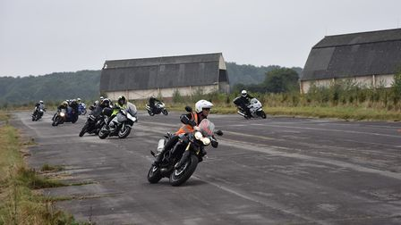 Motorcyclists practising skills on an Essex Fire Bike course at Wethersfield Airfield. Picture: ESSE