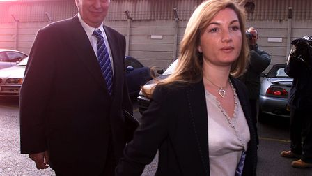 Karen Brady, right, has suggested that the current football season may have to be declared null and