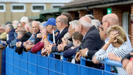 Fans at all levels of the game are missing out on football. Here fans at Leiston look on. Picture: J