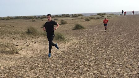 The sandy scene at last weekend's Great Yarmouth North Beach parkrun. Picture: CARL MARSTON
