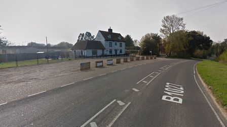 The collision happened in Flaghill Road in Great Bentley last night. Picture: GOOGLE MAPS