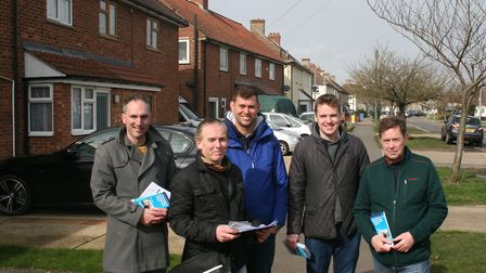 MP Tom Hunt and Conservative campaigners were in the Rushmere ward in Ipswich last weekend, and cont