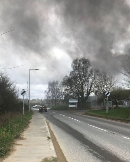 Firefighters were called to the blaze at Sackers in Needham Market. Picture: MATTHEW MORRISON