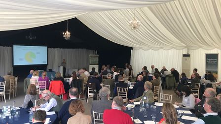 Farmers and landowners at CLA East's carbon accounting event in Peterborough Picture: CLA