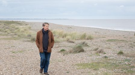 Bill Turnbull on Sizewell beach Picture: SARAH LUCY BROWN