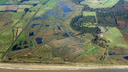 An aerial picture of the Minsmere reserve Picture: Mike Page