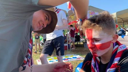 Scouts from Suffolk visited the World Scout Jamboree in the US on 2019 - travel between the UK and U