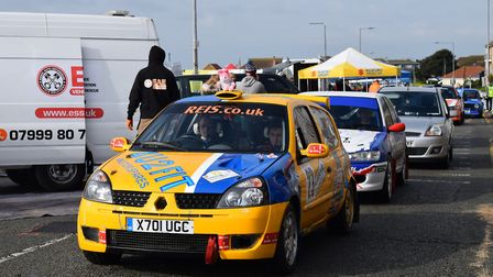 Rally drivers from around the world were due to appear in Clacton and Tendring for the Corbeau Seats