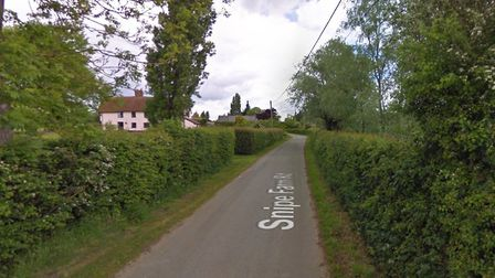 The burglary took place on Snipe Farm Road in Clopton Picture: GOOGLE MAPS