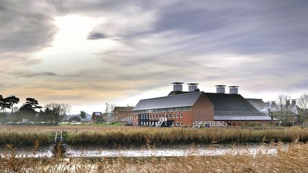 Snape Maltings home of the Aldeburgh Festival which is closed until the end of April Photo:Philip