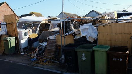 The illegal waste site in Jaywick Sands Picture: TDC