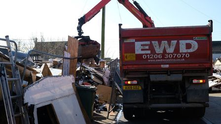 The clearance has begun at the site in Alvis Avenue, Jaywick Sands Picture: TDC