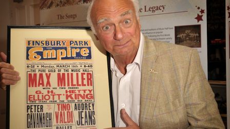 Roy Hudd at the opening of an exhibition of his Music Hall Archive, at Ipswich Town Hall. Photo: Sa
