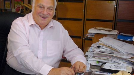 Roy Hudd, who died this week, pictured n his office at home Photo: Simon Parker