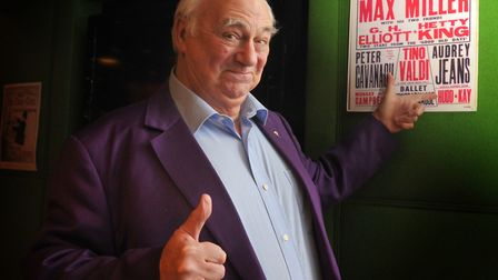 Roy Hudd, who died at age 83, pictured at the exhibition of posters from his music hall archive. Pho