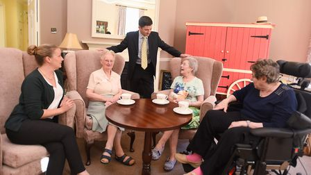 Roger Catchpole at Brandon Park nursing home, which has an 'outstanding' rating from inspectors. Pic