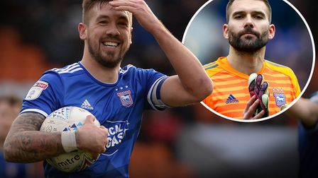 Bartosz Bialkowski (inset) believes Luke Chambers could manage Ipswich Town in the future: Picture: