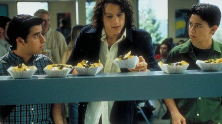 Heath Ledger, Joseph Gordon-Levitt and David Krumholtz in 10 Things I Hate About You Picture: BUENA
