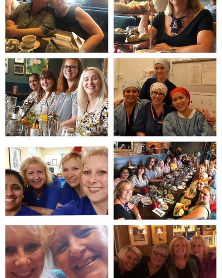 Trace Bloomfield, who works at West Suffolk Hospital, shared this collage of her alongside colleague