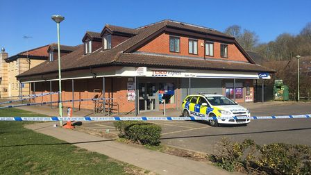 A police cordon remained in place several hours after the incident Picture: MICHAEL STEWARD