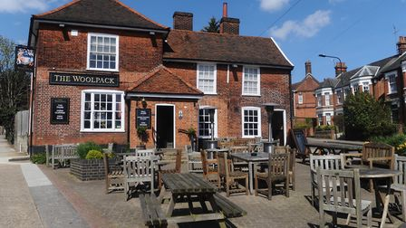 The Woolpack pub in Ipswich is encouraging customers to buy gift cards in a bid to keep money coming