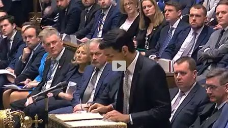 Where's the two-metre gap? The House of Commons on Tuesday night for Rishi Sunak's statement - two h